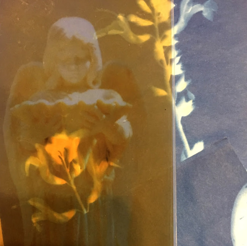 Class Image NEW! 4938. Cyanotype and Mixed Media