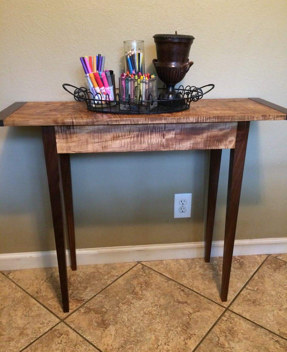 Class Image Sofa table with breadboard ends