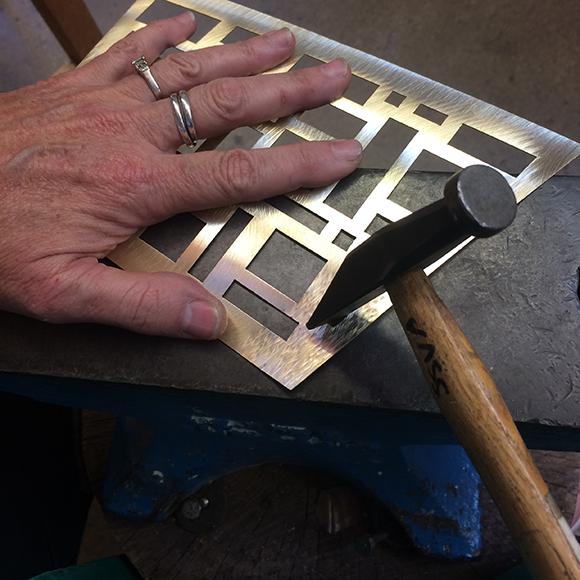 Class Image Texturing Metal, Creating Jewelry