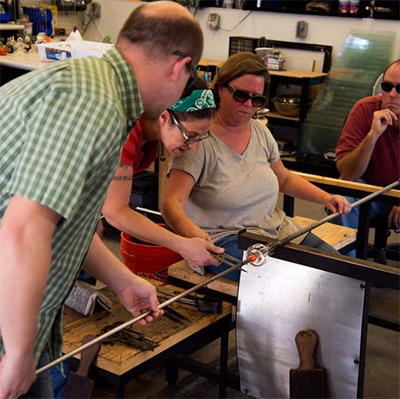 Class Image Glassblowing Workshop at The Olio