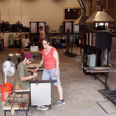 Class Image B Glassblowing Basics at The Olio