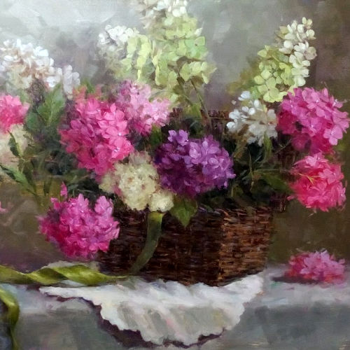 Class Image Classical Oil Painting Workhop: Painting Flowers