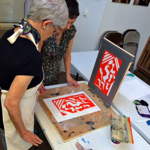 Class Image Studies of the Masters: Screenprinting & Matisse