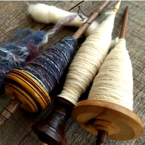Class Image Make Your Own Yarn: Introduction to Spinning with a Drop Spindle