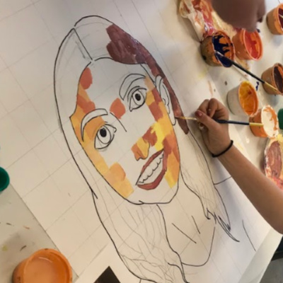 Class Image Painting- Color Theory 2 (ages 9-11)
