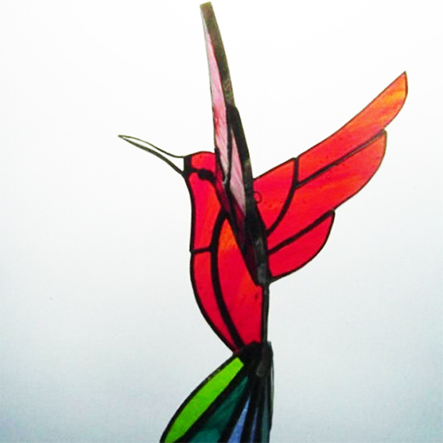 Class Image Stained Glass Hummingbird