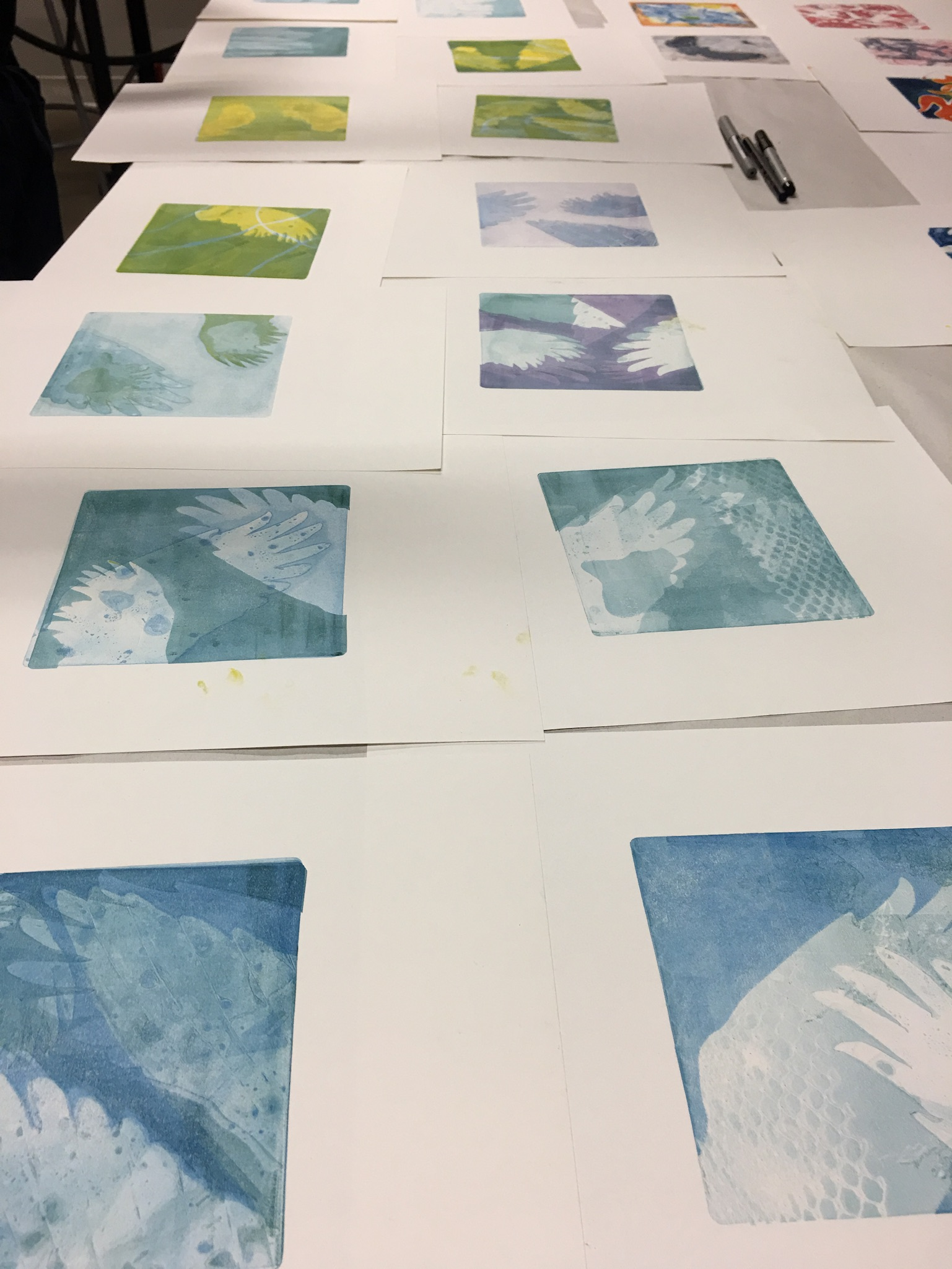 Class Image Stencil Printmaking with Leslie Smith