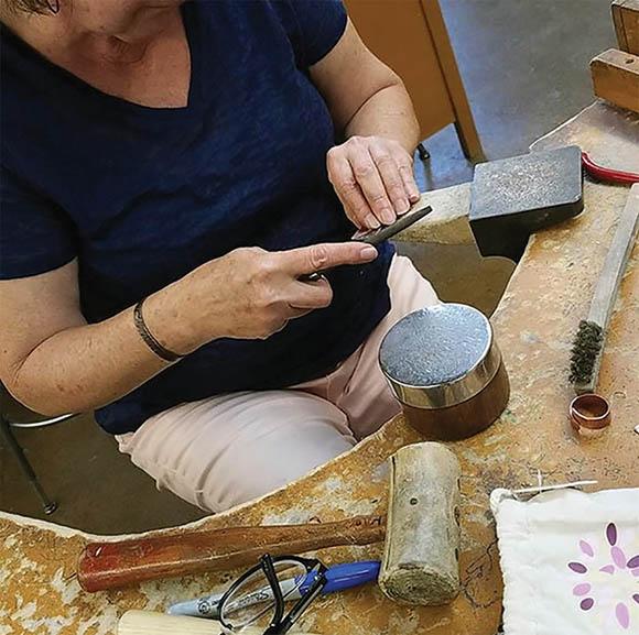 Class Image Beginning Metals/Jewelry Fabrication