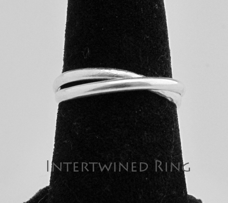 Class Image Taste of Art - Silver Intertwined Rings