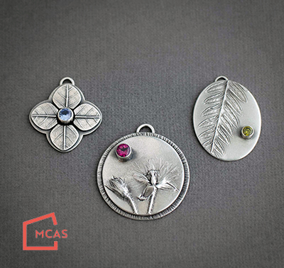 Class Image Gems and Blooms: Mixing Silversmithing and Metal Clay with Rebecca Connell