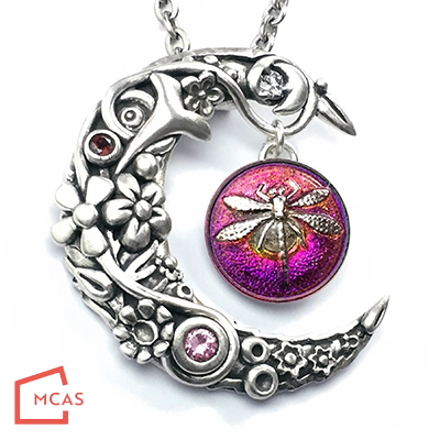 Class Image Bejeweled Moon Pendant with Donna Penoyer