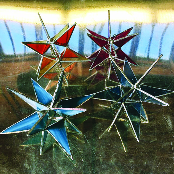 Class Image Stained Glass Moravian Star Workshop