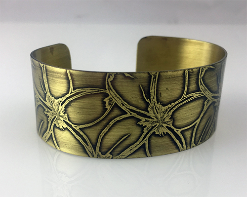 Class Image Rolling Mill Textured Cuff Bracelet- Etched Plates and More