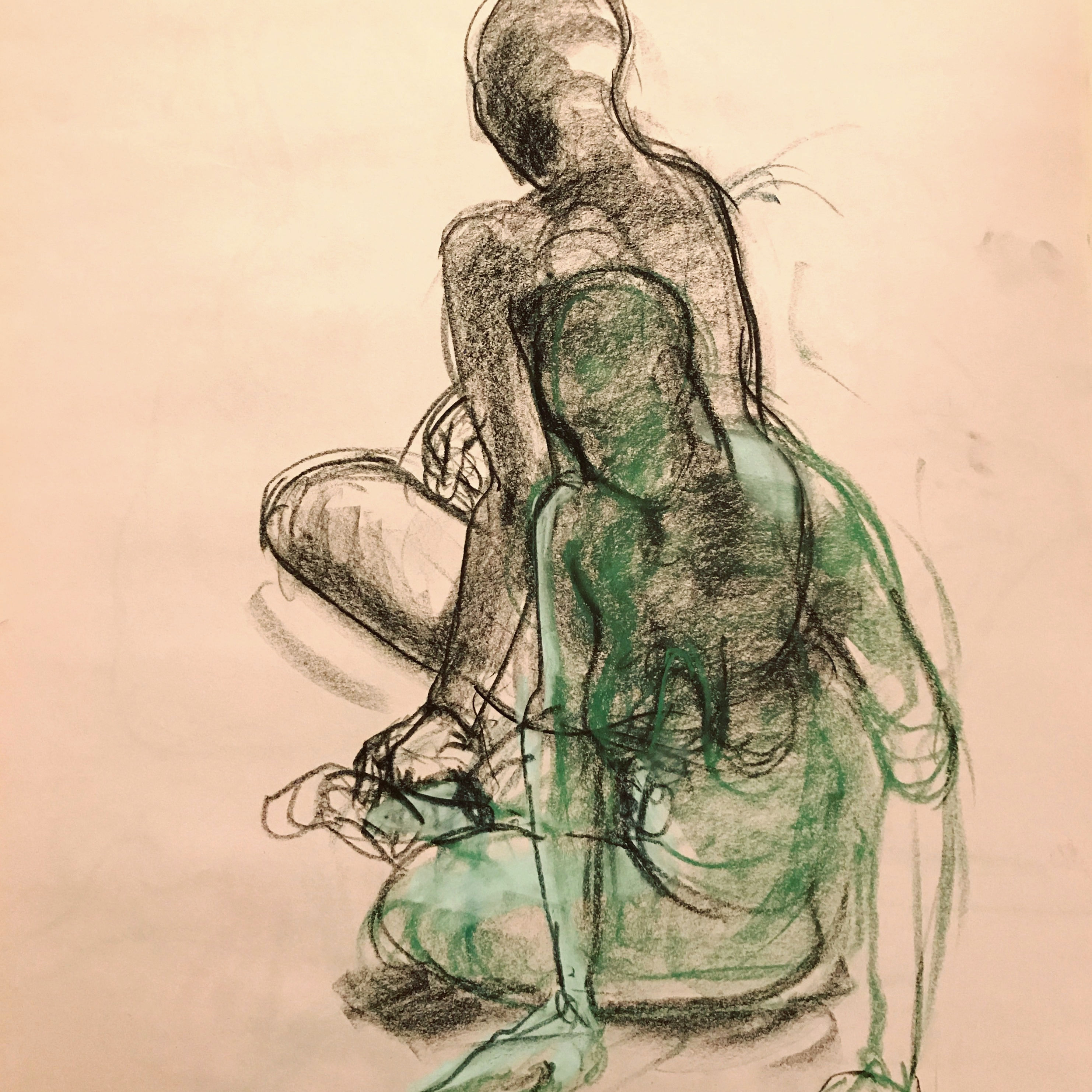Class Image Foundations of Figure Study: Exploring Gesture through Drawing and Sculpture