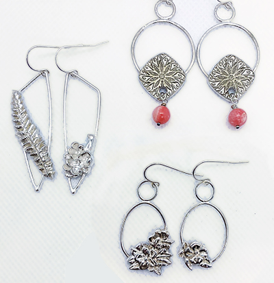 Class Image Fused Silver Earrings Workshop