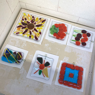 Class Image Taste of Art - Fused Glass Suncatcher