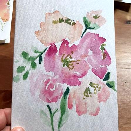 Class Image Watercolor Flowers Workshop