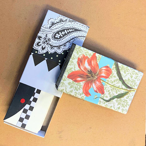 Class Image Taste of Art-Accordion Book In a Matchbox