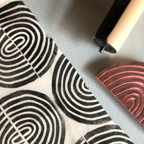 Class Image Taste of Art-Block Printing on Fabric