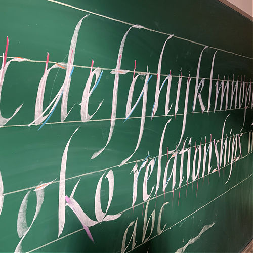 Class Image ONLINE: Intro to Calligraphy Part II