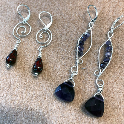 Class Image NEW! 529. Earrings in Wire, Stones & Beads