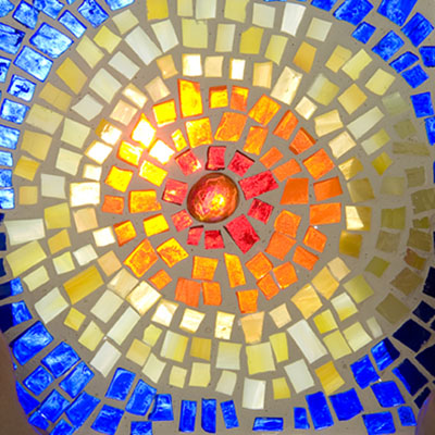Class Image Taste of Art - Glass on Glass Mosaic Panel
