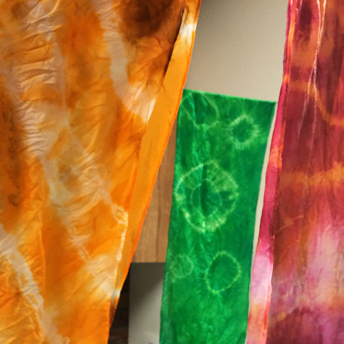 Class Image ONLINE Teen Silk Scarf Dyeing Class for Two