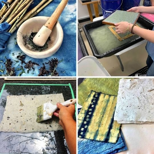 Class Image Visiting Artist: Papermaking, Local Fibers, and Natural Dyes