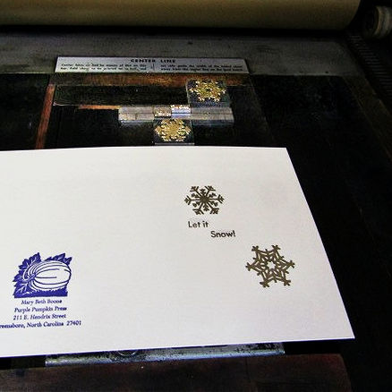 Class Image Letterpress Printing Holiday Cards